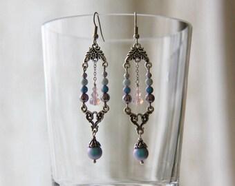 Earrings Fata Morgana. Earrings for Prom. Prom jewelry. Evening jewelry. Evening earrings. Earrings for bride.