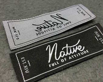 woven labels, woven label, basic name labels, custom woven labels, clothing labels, only USD17