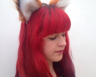 Realistic Fox Ears, Fantastic Fox Headband, Furry Animal Hairband