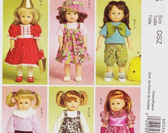 McCall's  M5554    18 Inch Doll Clothes & Accessories Pattern  (American Girl Doll)