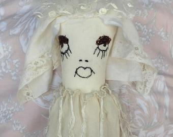 Prim Künstlerpuppe - seltsame Art Doll - Fantasy Ragdoll - ungerade süße Puppe - Plüsch-Kunst-Puppe - seltsame Kreatur Puppe - Miss Havisham Serie
