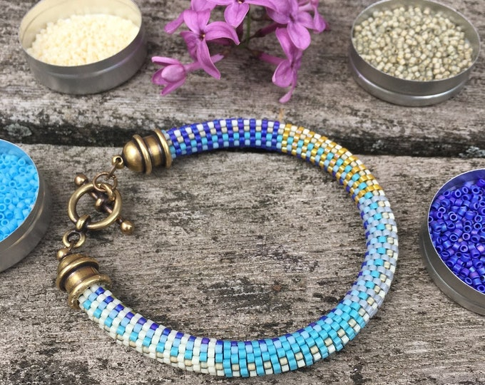 Featured listing image: Bead Crochet Kit and Pattern for Slip Stitch Bead Crochet, Susan Bracelet