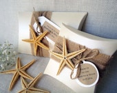 Gift Boxes Wedding Favor Boxes Beach Boxes Party Favor Boxes Pillow Boxes Large Pillow Boxes Ivory Burlap Pillow Boxes - PACK of 5 BOXES