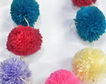 Pom Pom Garland / festive / party accessories