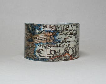 Ireland Cuff Bracelet Croagh Patrick County Mayo Westport The Reek Unique Gift for Men or Women