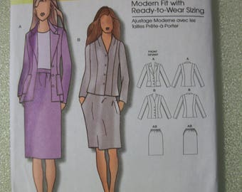 Butterick B5336 Misses (XS to XLG) jacket and skirt