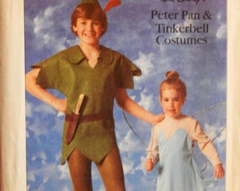 Simplicity 7784 Walt Disney's Peter Pan and Tinkerbell costume pattern Child's sizes 10 and 12