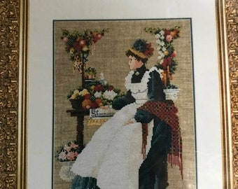 SUMMERSALE Vintage Lavender & Lace County Fair Counted Cross Stitch Pattern