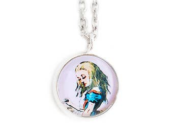 Alice in Wonderland Small Pendant Necklace Lewis Carroll