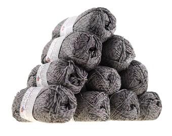10 x 50g knitted yarn wool cotton Symbiosis #235 Grey