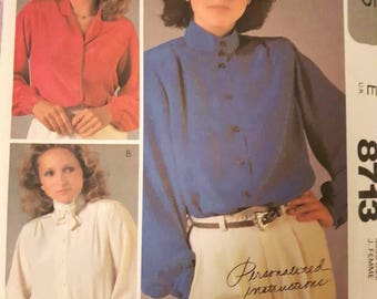 McCall's 8713, Misses Blouse sewing Pattern