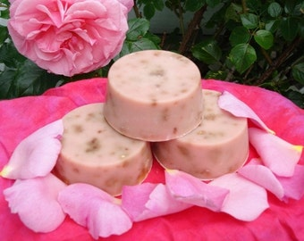 Hippie Love Patchouli Rose Soap 2 Handmade Hemp Soap Round Bars FREE SHIPPING