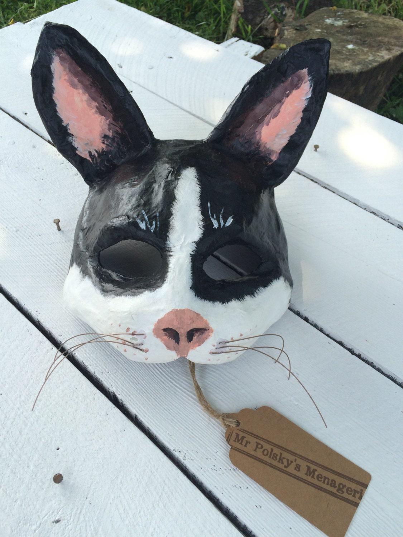 Katze Maske / Papier Pappmaché-Katzen-Maske / aus Pappmaché
