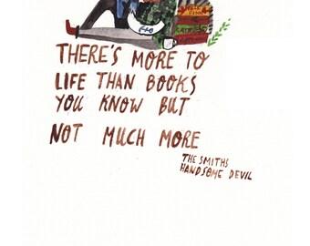 More to Life Than Books A6 Postcard