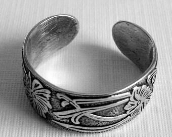 Sterling Silver Pattern Toe Ring, Sterling Toe Ring, Silver Toe Ring, Handmade Toe Ring, Floral and Scrolls Toe Ring