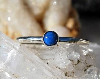 Lapis Lazuli Ring - Lapis Ring - Denim Lapis Ring - Blue Gemstone Ring - Sterling Silver Ring - Stacking Ring - Dainty Ring - Gemstone Ring