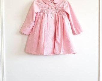 Vintage Pink Smocked Girl's Jacket