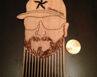 Chukez.com Beard Comb Hat w/ Star Logo