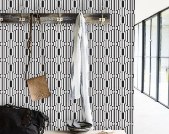 Art deco stripes / Geometric wallpaper / Art deco / Self adhesive / Regular wallpaper /  ECO wallpaper / Tapete / Scandinavian design