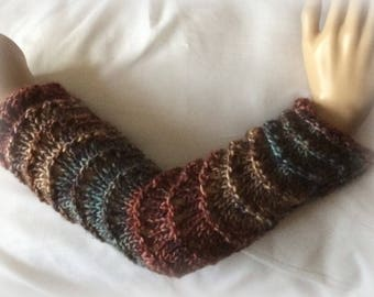 Country Tweed Lace arm warmers finger less gloves