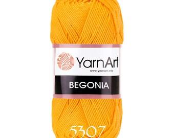 YarnArt BEGONIA cotton yarn crochet cotton yarn soft yarn spring yarn summer yarn color choice hand knit yarn Mercerized Cotton