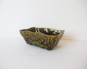 Vintage Succulant Planter Vintage planter Vintage Vase Ceramic Planter Vintage Planter Vintage Pottery Vintage Green planter Green vase Leaf