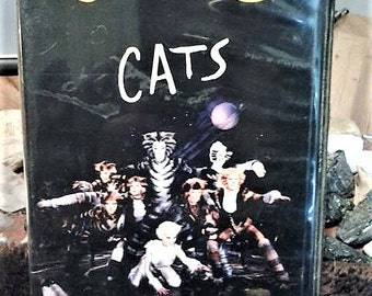 CATS vhs//hardcase vhs//cats musical//