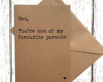 Funny dad card, card for him, dad birthday, dad card, funny dad quote, dad card humour, dad quote card, dad card funny, fathers day card