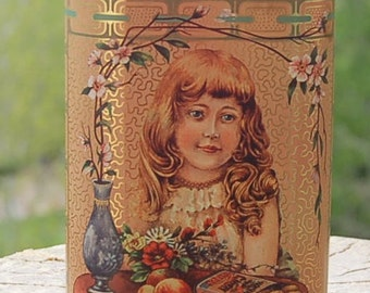 Daher Ginger Wafers Tin Basket Famous Biscuit Company England