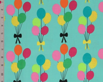 Cotton Quilt Fabric Michael Miller Funfair Balloons By The Half Yard