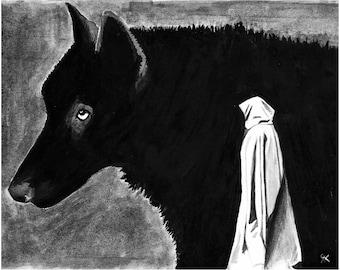Red Riding Hood - Art Print 8x10