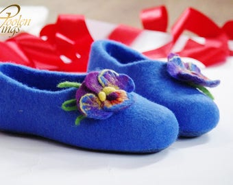 falted slippers - Eco-friendly - healthy & comfortable - felting