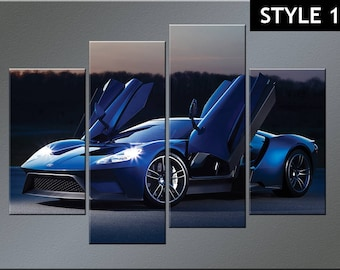 Ford GT Super sports car canvas