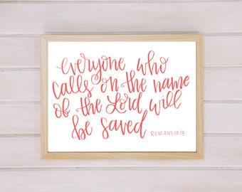 Romans 10:13 Print