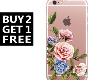 iphone 8 plus case floral iphone 8 case clear iphone cases floral phone case 6s,6s plus,6,6 plus iphone case, silicone 55