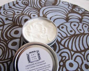 Cream Deodorant, locally made in winnipeg MB, natural cream deodorant, zinc oxide, clay, shea butter, organic coconut oil, Manitoba beeswax