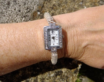 Silver snowflake watch,  Ladies watch. Silver watch, gift for her, mother's day gift,  Ladies silver watch, unique gift, watches