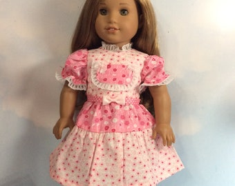 """Pink flowers dress fits 18"""" American girl dolls and dolls similar to size"""