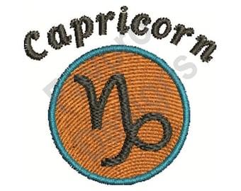 Capricorn Sign - Machine Embroidery Design