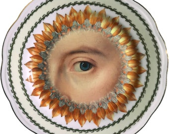 Lover's Eye - Blue - Burst - Vintage Fine Bone China - #0581
