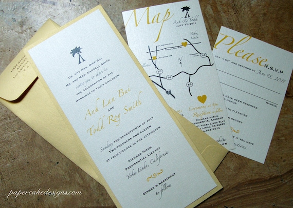 Wedding Invite Enclosures: Destination Wedding Invitation / Beach Invite Enclosure Cards