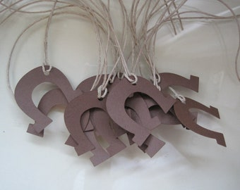 12 horse shoe gift tags