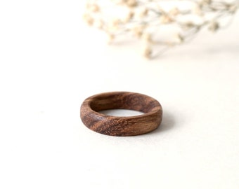 Zebra Wood Ring, Wood Ring, Wood Women Band, Wedding Rings, Wooden Wedding Jewelry, Zebrano Wood Jewelry, Personalized Ring, Custom Ring