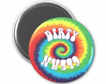 Tie Dye Clean Dirty Dishwasher Magnet