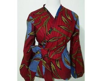 African print wrap top,ankara wrap top;Ankara top, African top,African print top plus size,african print top for women,african print top,