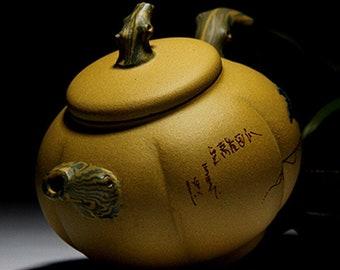Chinese Yixing Clay Teapot Yixing Duan Ni Zisha Tea Pot Pumpkin Shape Gift Box Package Gift for Mom