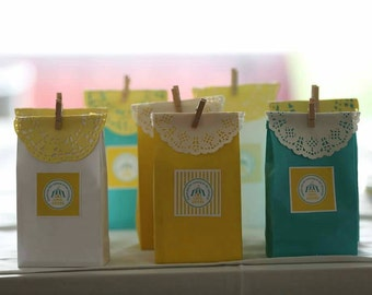 Paper Bags / Candy Bags / Favour Bags Pk20 - White