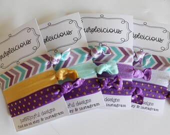 Purpleicious - No Crease Hair Tie - Party Favors - Soft Hair Tie - Workout Hair Tie