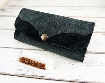 Recycled Leather Pouch, Tobacco Pouch, Smokers Gift, Roll Up Tobacco