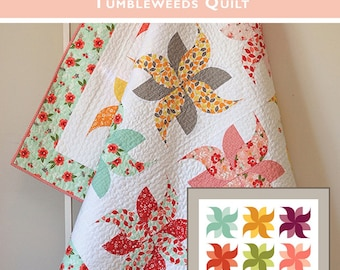 Tumbleweeds Quilt Pattern by Sedef Imer for Creative Abundance, Down Grapevine Lane Patterns